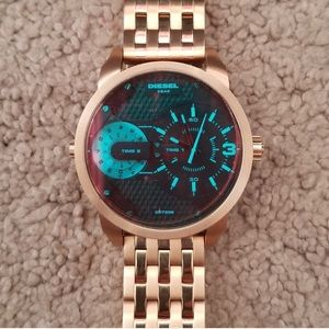 Rose Gold Diesel Watch